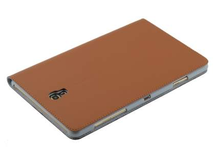 Premium Slim Genuine Leather Portfolio Case with Stand for Samsung Galaxy Tab S 8.4 - Brown