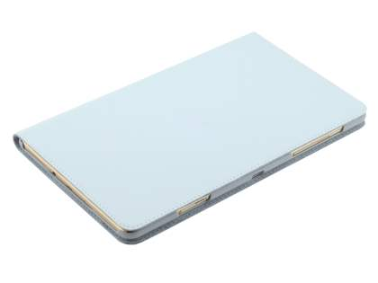 Premium Slim Genuine Leather Portfolio Case with Stand for Samsung Galaxy Tab S 8.4 - Pearl White