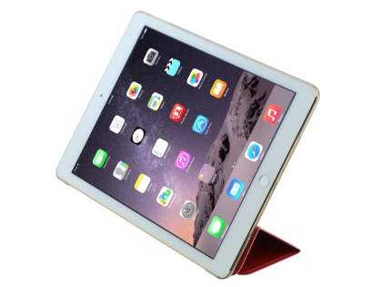 Premium Slim Synthetic Leather Smart Flip Case with Stand for iPad Air 2 - Red