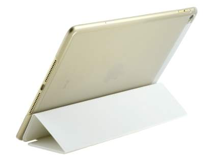 Premium Slim Synthetic Leather Smart Flip Case with Stand for iPad Air 2 - Pearl White
