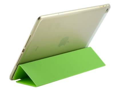 Premium Slim Synthetic Leather Smart Flip Case with Stand for iPad Air 2 - Green