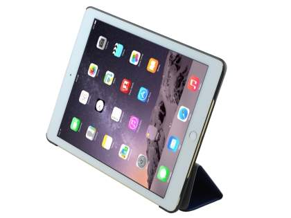 Premium Slim Synthetic Leather Flip Case with Stand for iPad Air 2 - Dark Blue