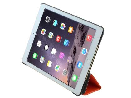 Premium Slim Synthetic Leather Flip Case with Stand for iPad Air 2 - Orange