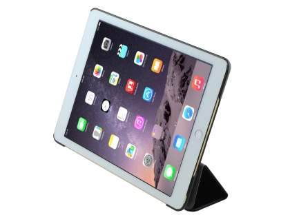 Premium Slim Synthetic Leather Flip Case with Stand for iPad Air 2 - Classic Black