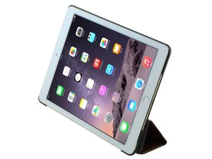Premium Slim Synthetic Leather Flip Case with Stand for iPad Air 2 - Coffee
