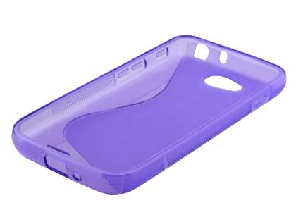 Dual Wave Case for LG L90 - Frosted Purple/Purple