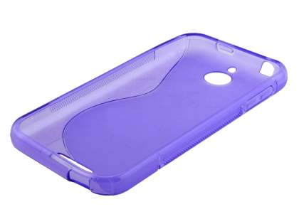 HTC Desire 510 Wave Case - Frosted Purple/Purple