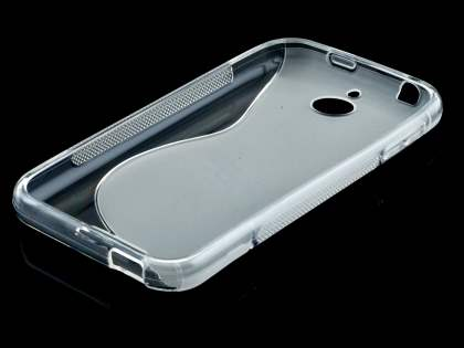 HTC Desire 510 Wave Case - Frosted Clear/Clear