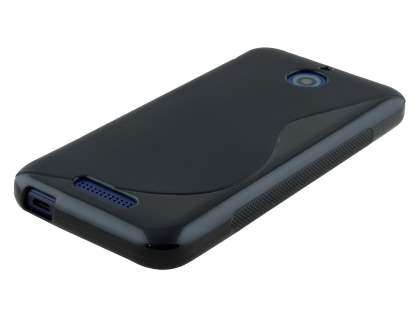 HTC Desire 510 Wave Case - Frosted Black/Black