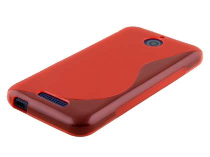 HTC Desire 510 Wave Case - Frosted Red/Red
