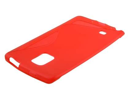Wave Case for Samsung Galaxy Note Edge - Frosted Red/Red