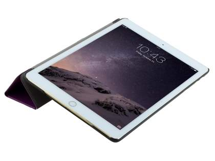 Premium Slim Synthetic Leather Flip Case with Stand for iPad Air 2 - Purple