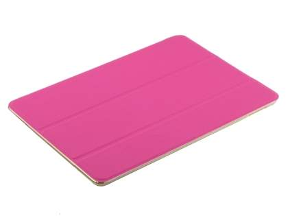 Premium Slim Synthetic Leather Smart Flip Case with Stand for iPad Air 2 - Hot Pink