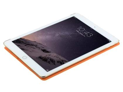 Premium Slim Synthetic Leather Smart Flip Case with Stand for iPad Air 2 - Orange