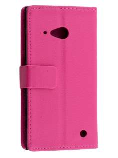 Synthetic Leather Wallet Case with Stand for Nokia Lumia 735 - Pink Leather Wallet Case