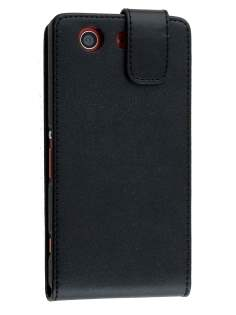 Sony Xperia Z3 Compact Synthetic Leather Flip Case - Classic Black