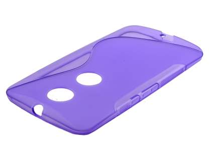 Wave Case for Motorola Google Nexus 6 - Frosted Purple/Purple Soft Cover