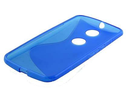 Motorola Google Nexus 6 Wave Case - Frosted Blue/Blue