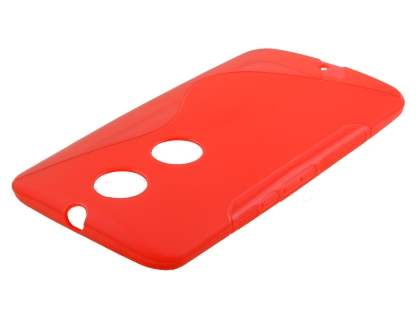 Wave Case for Motorola Google Nexus 6 - Frosted Red/Red