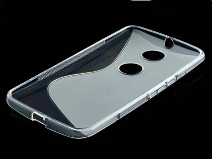 Motorola Google Nexus 6 Wave Case - Frosted Clear/Clear