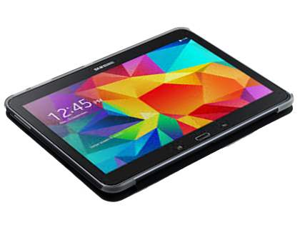 Samsung Galaxy Tab 4 10.1 Book-Style Case with Stand - Black/Frosted Clear