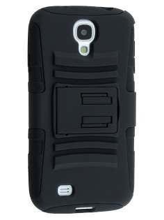 Rugged Case with Holster Belt Clip for Samsung Galaxy S4 - Classic Black Impact Case