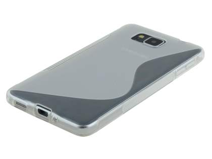Samsung Galaxy Alpha Wave Case - Frosted Clear/Clear