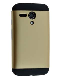 Impact Case for Motorola Moto G - Gold/Black Impact Case