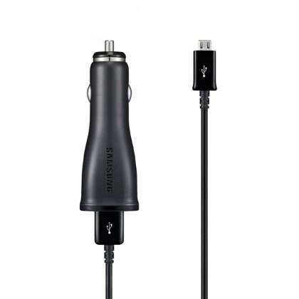 Genuine Samsung 2000mA Car Charger with USB Port & MicroUSB Data Cable - Car Charger for Samsung