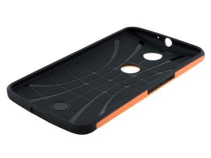Motorola Google Nexus 6 Impact Case - Orange/Black