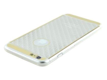 Pattern TPU Case for iPhone 6s Plus/6 Plus - Gold/Clear