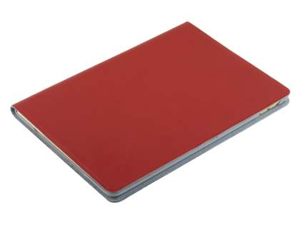 Premium Genuine Leather Portfolio Case with Stand for iPad Air 2 - Red