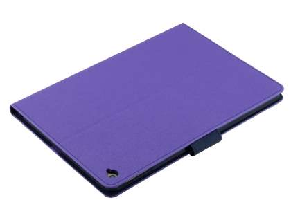 Mercury Colour Fancy Diary Case with Stand for iPad Air 2 - Purple/Navy