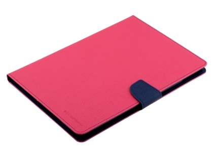 Mercury Colour Fancy Diary Case with Stand for iPad Air 2 - Pink/Navy