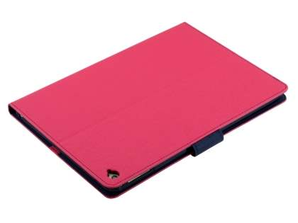 Mercury Goospery Colour Fancy Diary Case with Stand for iPad Air 2 - Pink/Navy