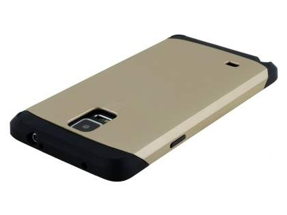 Samsung Galaxy Note 4 Impact Case - Gold/Black