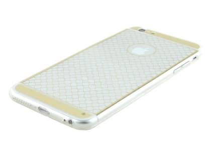 Pattern TPU Case for iPhone 6s Plus / 6 Plus - Gold/Clear