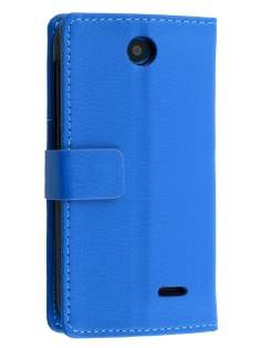 Synthetic Leather Wallet Case with Stand for HTC Desire 310 - Blue Leather Wallet Case