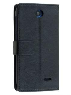 Synthetic Leather Wallet Case with Stand for HTC Desire 310 - Black Leather Wallet Case