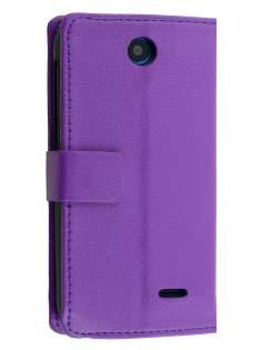 Synthetic Leather Wallet Case with Stand for HTC Desire 310 - Purple Leather Wallet Case