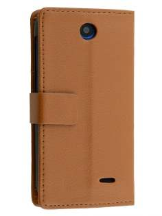 Synthetic Leather Wallet Case with Stand for HTC Desire 310 - Brown Leather Wallet Case