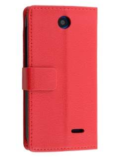 Synthetic Leather Wallet Case with Stand for HTC Desire 310 - Red Leather Wallet Case
