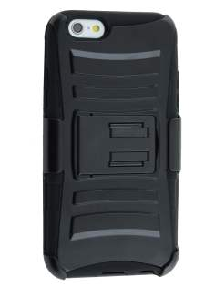 Rugged Case with Holster Belt Clip for iPhone 6/7/8 - Classic Black