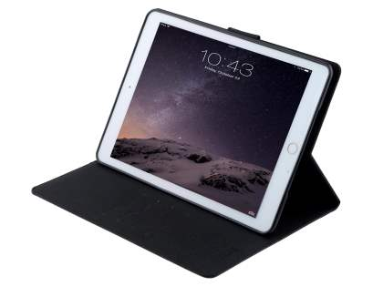 Mercury Colour Fancy Diary Case with Stand for iPad Air 2 - Classic Black