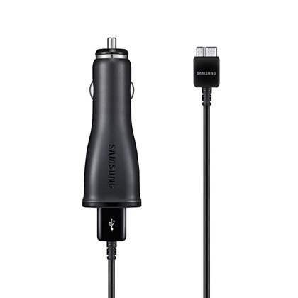 Genuine Samsung 2000mA Car Charger with USB Port & Micro USB V3.0 Sync Cable