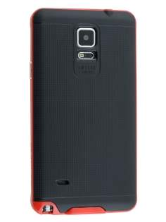 Textured Impact Case for Samsung Galaxy Note 4 - Red/Black Impact Case