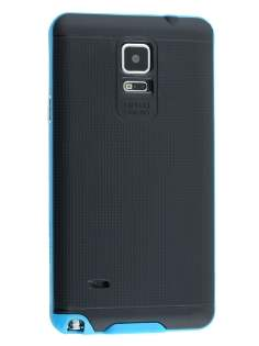 Samsung Galaxy Note 4 Textured Impact Case - Sky Blue/Black