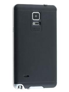Samsung Galaxy Note 4 Textured Impact Case - Silver/Black