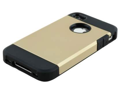 Apple iPhone 4/4S Impact Case - Gold/Black