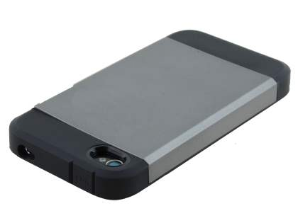 Apple iPhone 4/4S Impact Case - Grey/Black